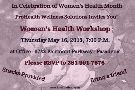 women health workshop invite